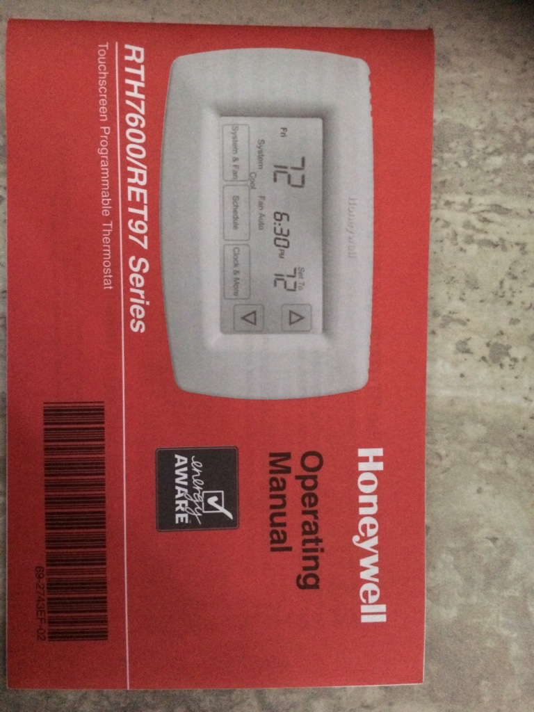 honeywell 1300g quick start guide