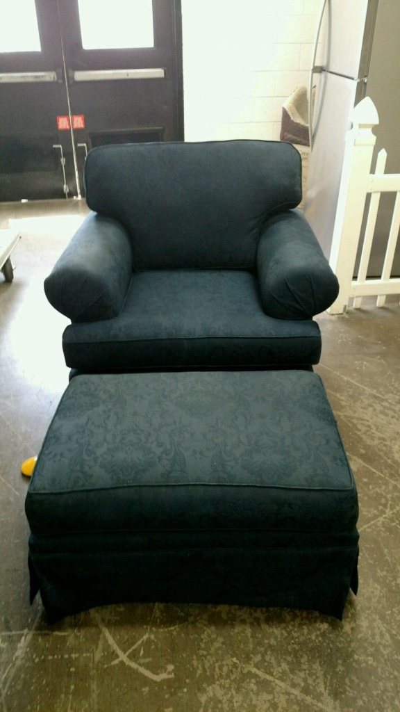 Letgo ralph lauren navy in arizona state university az for Navy blue chair and ottoman