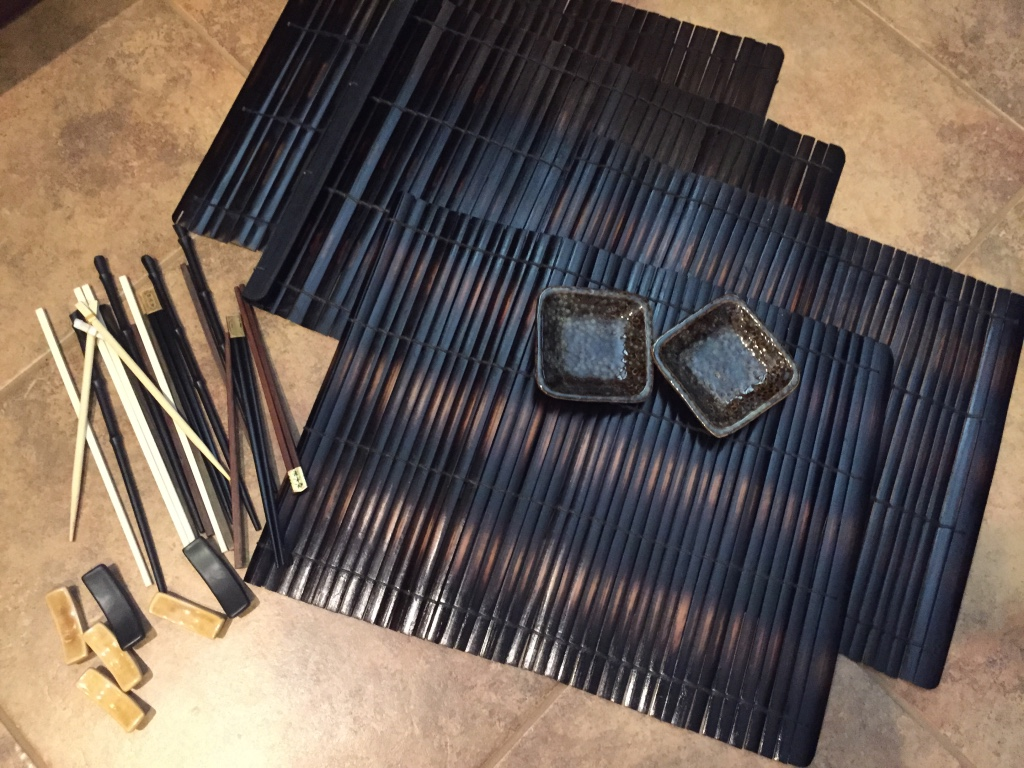 Letgo black bamboo placemat set in queen creek az for Small square placemats