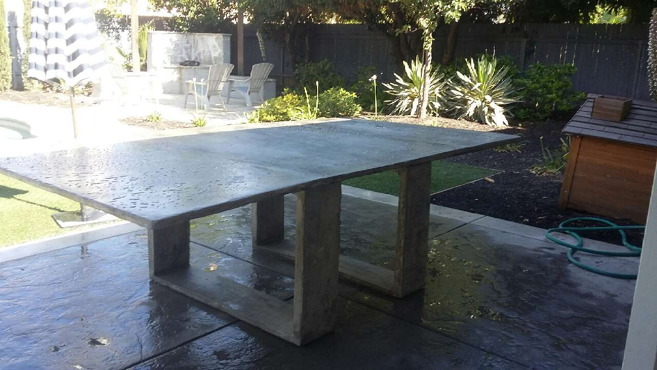 Letgo concrete ping pong table in fruitridge ca - How much does a ping pong table cost ...
