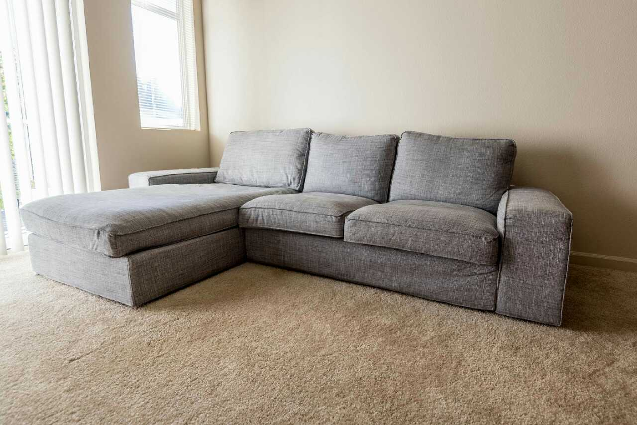 Letgo ikea kivik sofa with chaise lounge in mill creek wa for Ikea gray sofa