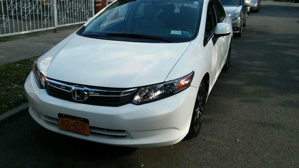 Letgo 2012 honda civic white in hub ny for 2012 honda civic white