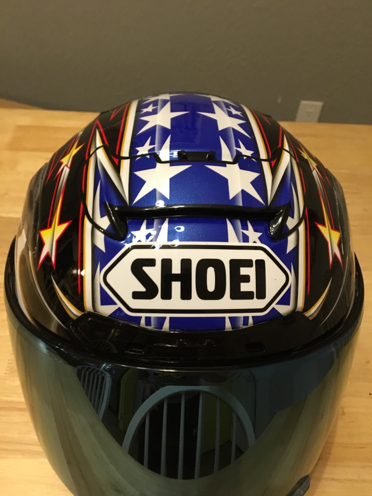 Perryton (TX) United States  city photos gallery : Description Shoei X 12 The Glory 2 full face helmet.Has small rock ...