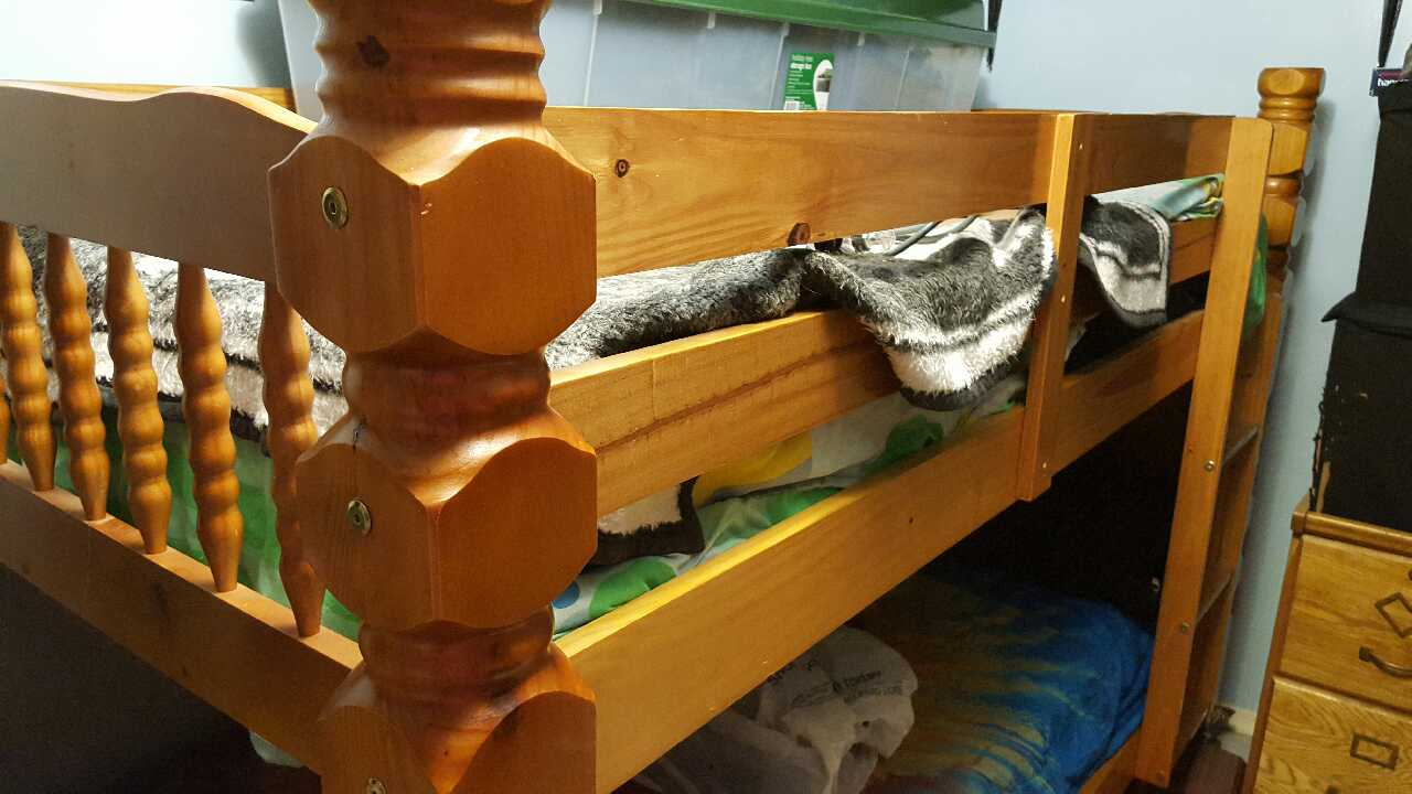 letgo Wooden twin bunk beds for sale in Nottingham PA