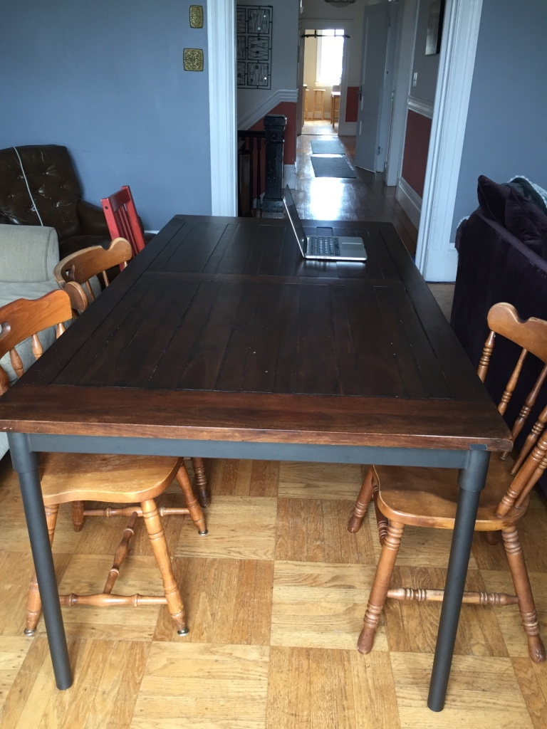 Letgo west elm wooden dining table in brooklyn ny for West elm c table