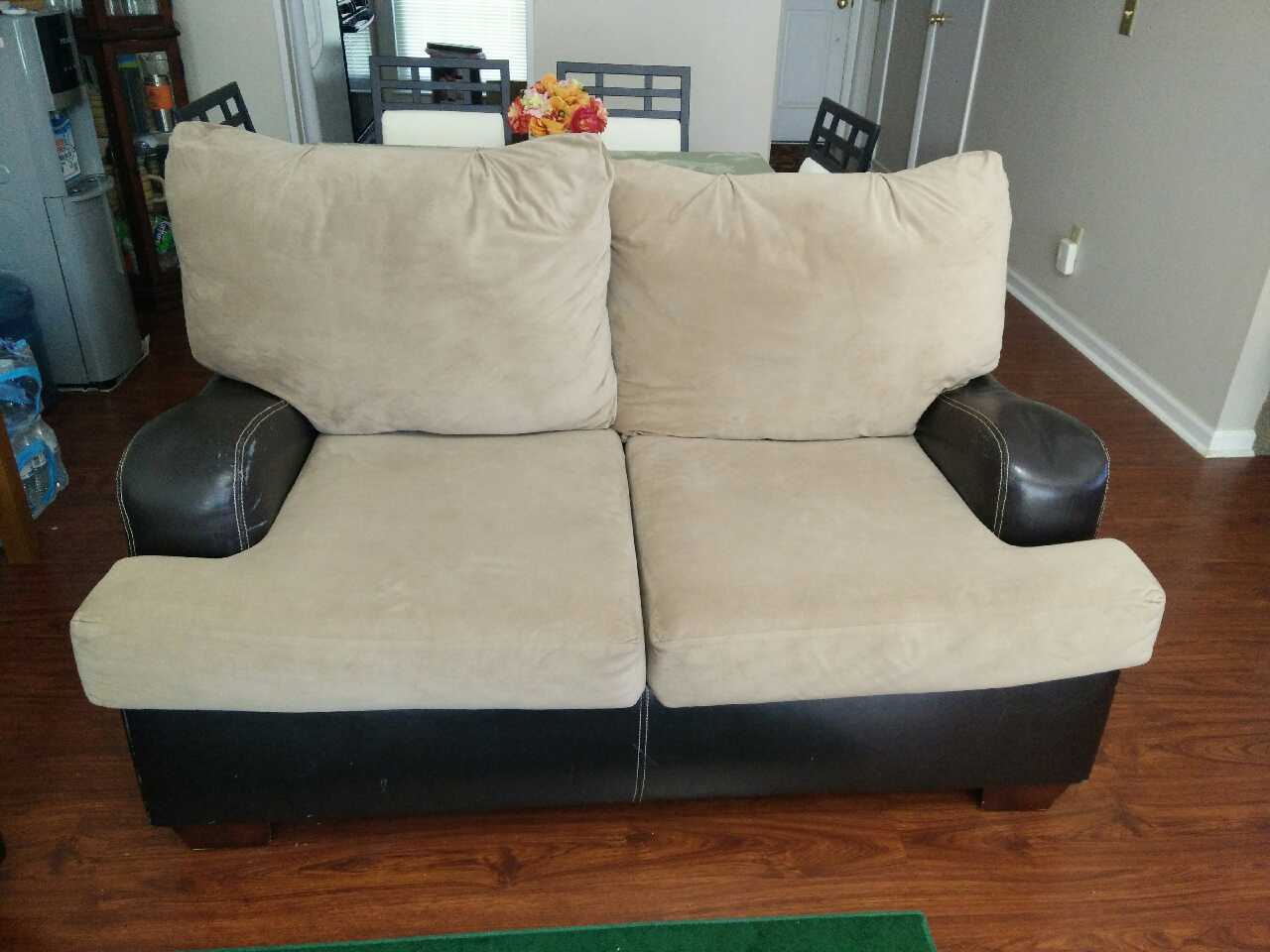 Letgo Brown Sofa And Love Seat For Sale W In Kroger Ga