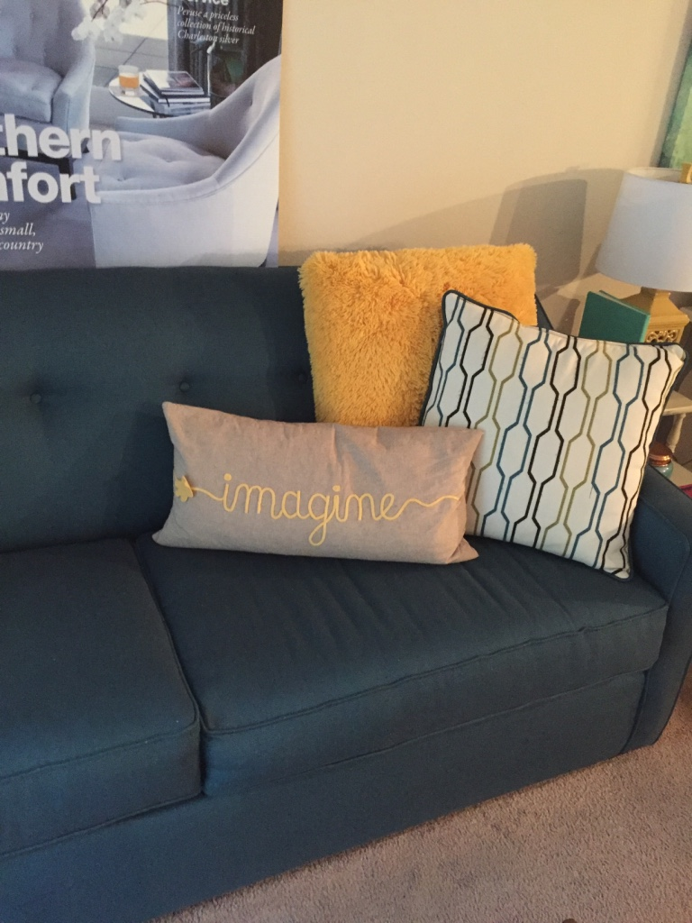 Navy Tufted Headboard By High Fashion Home: Tufted Teal Sofa In Navy Supply Corps School, GA