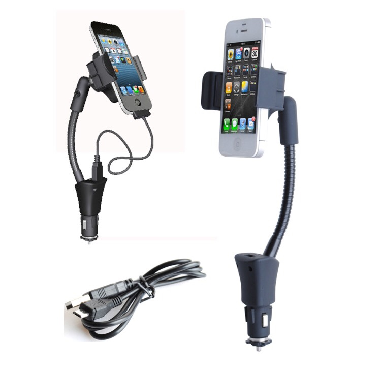 Used, Usb Charger Universal Car Phone Holder Mount for sale  Broward Mall, FL