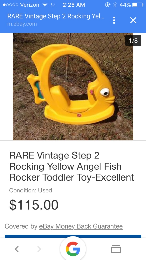 Letgo rare collector item step 2 angel in brewster ma for Step 2 rocking fish