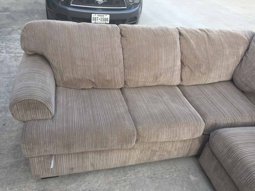 Letgo grey suede sectional sofa in leon valley tx for Suede sectional
