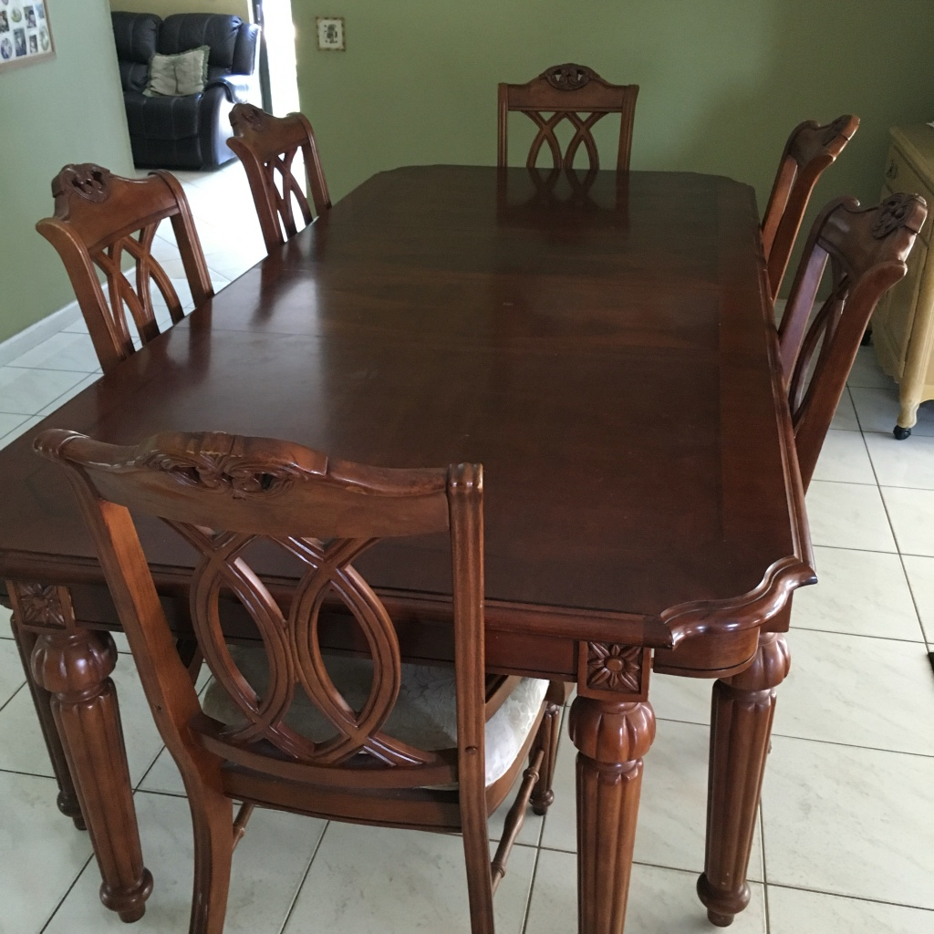 Letgo brown wooden rectangular d in royal plm beach fl for 5 foot dining room table