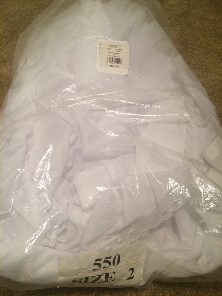 letgo - David's bridal fit and flare sli... in Vacaville, CA