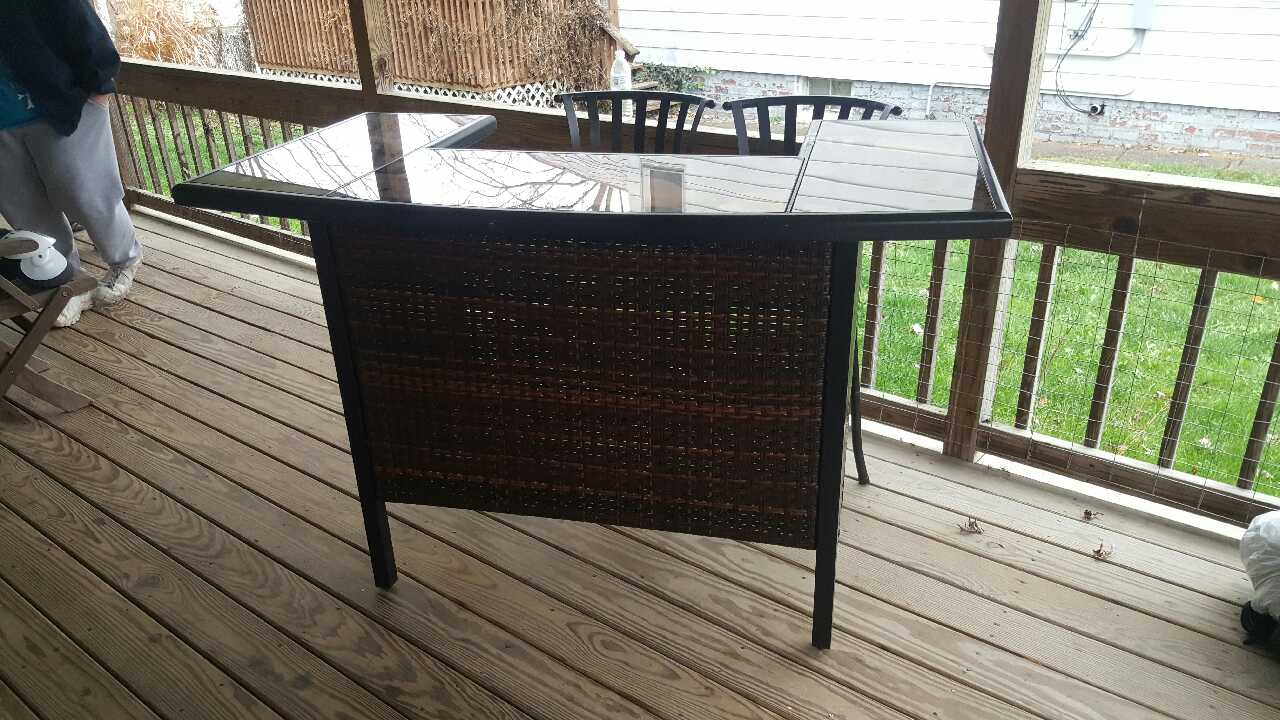 Letgo Sturdy Wicker Metal And Glass In Cedarville Oh