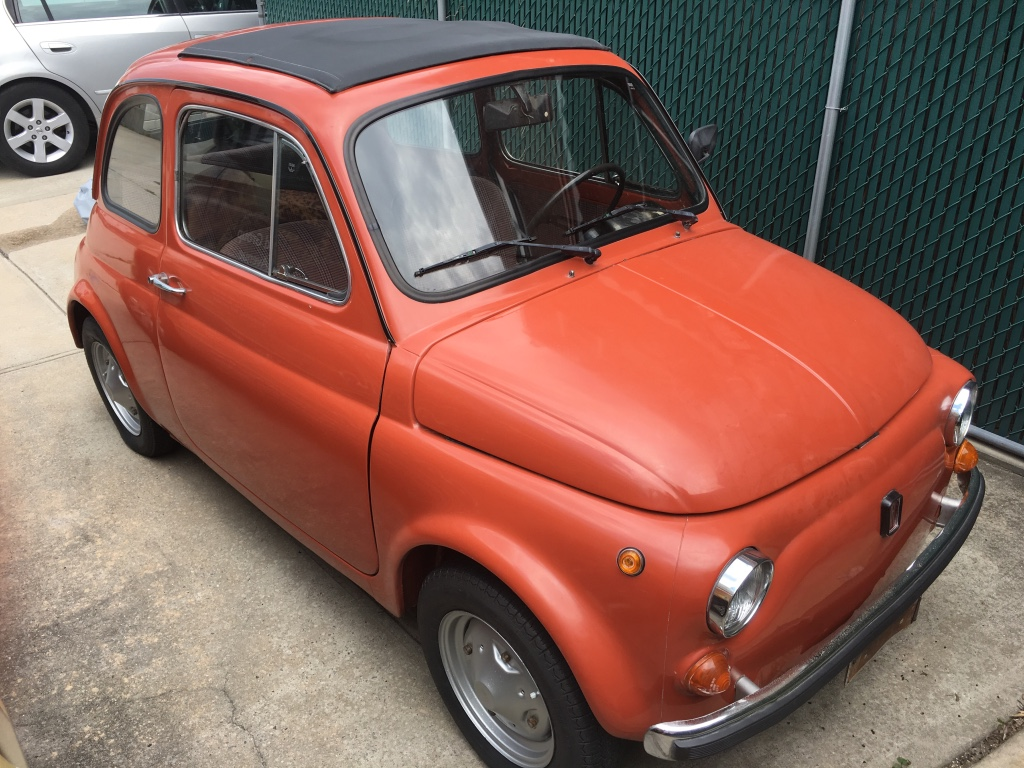 letgo classic fiat 500 l 1970 in astoria ny. Black Bedroom Furniture Sets. Home Design Ideas