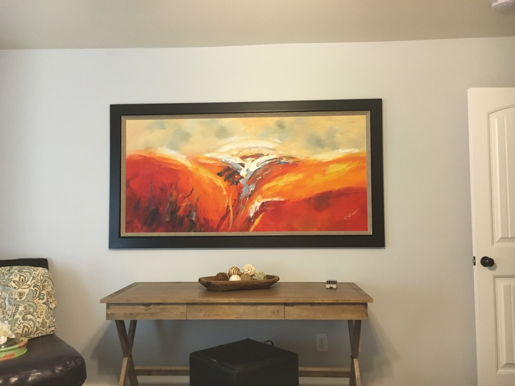 Letgo Red Beige And Grey Abstract Painting In Lubbock Tx