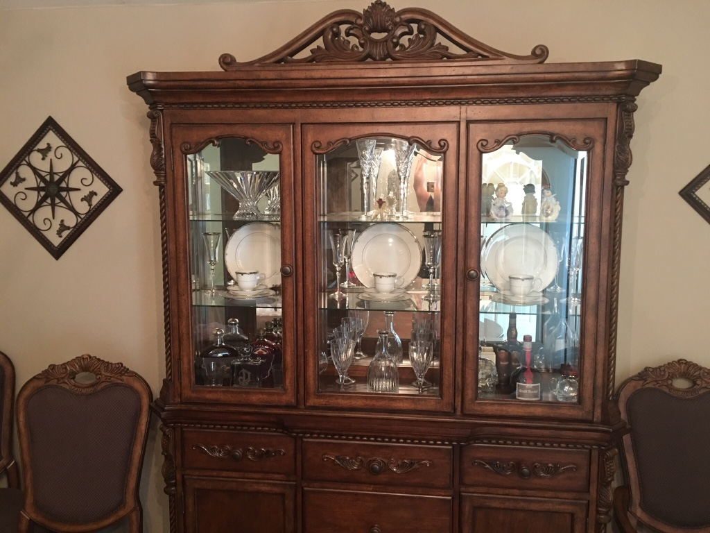 leon valley home and garden china cabinet dining room table set