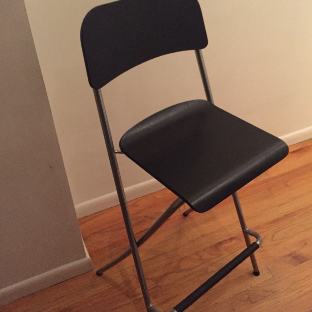 Letgo 4 ikea folding bar stools in castle point nj for Ikea folding stool
