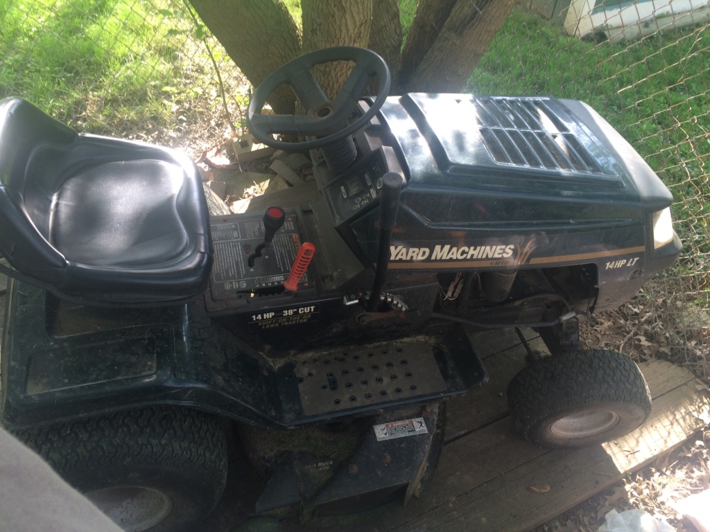 Yard Machines Garden Tractor : Letgo yard machines by mtd lawn tractor in rouse ky
